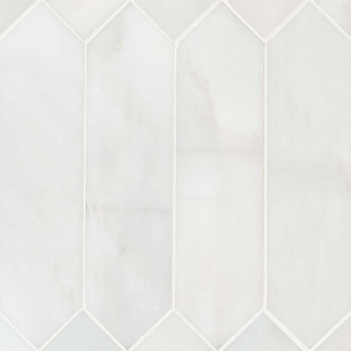 MS International Specialty Shapes Wall Series: Arabescato Carrara 3X12 Picket Honed Mosaic Tile SMOT-ARA-PK3X12H