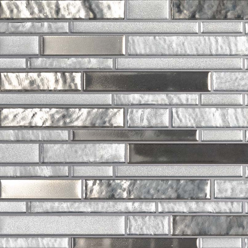 MS International Glass Tile Series: Adara Interlocking Pattern 8mm Glass Tile SMOT-GLSIL-ADARA8MM