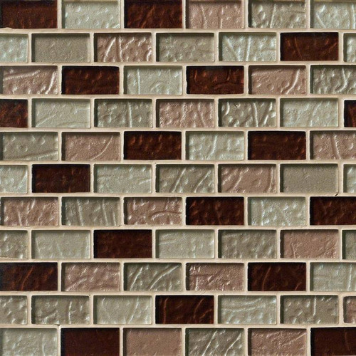 MS International Glass Tile Series: Ayres Blend 1x2x8MM Mosaic Tile SMOT-GLBRK-AB8M
