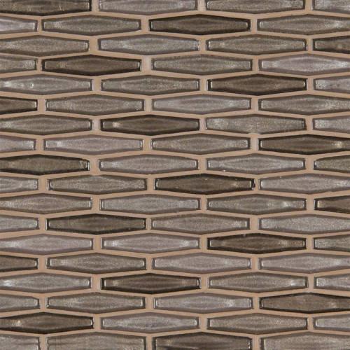 MS International Glass Tile Series: Champagne Estate Pattern Decorative Glass Mosaic Tile SMOT-GLS-CHAEST6MM