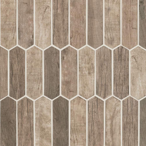 MS International Glass Tile Series: Driftwood Picket 6mm Recycled Glass Mosaic Tile SMOT-GLSPK-DRIFT6MM