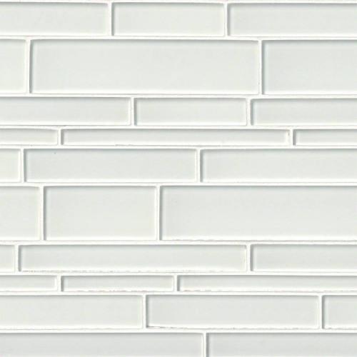 MS International Glass Tile Series: Ice Interlocking Pattern 12x18 Crystallized Glass Mosaic Tile SMOT-GLSIL-IC12X18