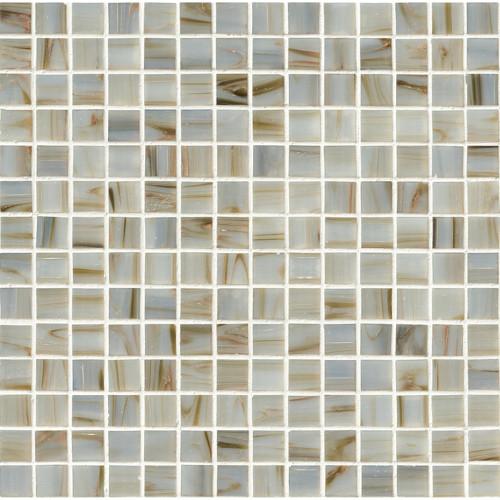 MS International Glass Tile Series: Ivory Iridescent 3/4x3/4 Mosaic Tile THDW3-SH-IVRYIR3/4X3/4GL