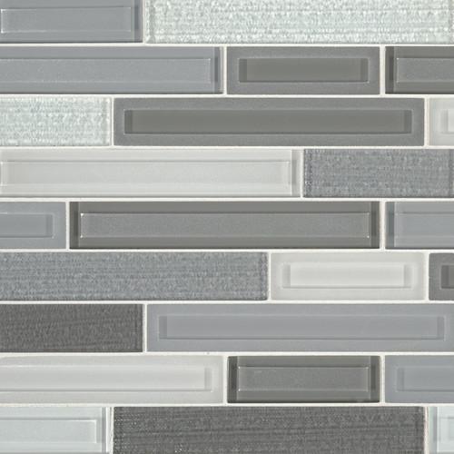 MS International Glass Tile Series: Skyline Staks Interlocking Pattern Glass Mosaic Tile SMOT-GLSBIL-SKYSTA8MM