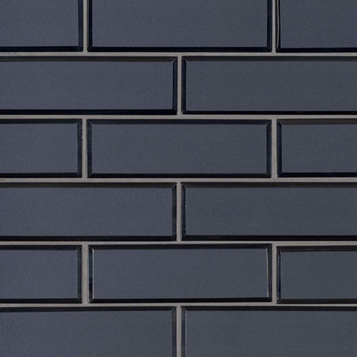 MS International Glass Tile Series: Vague Blue 6mm Glass Subway Tile SMOT-GLSST-VAGBLUBEV6MM