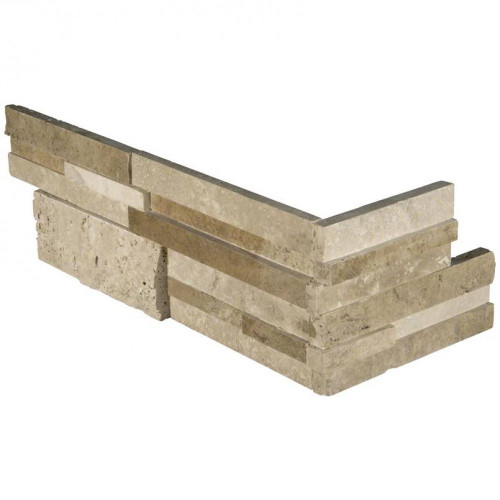 MS International Stacked Stone Series: Casa Blend 3D Multi Finish 6X12X6 Corner Ledger Panel LPNLTCASBLE618COR-3DHS