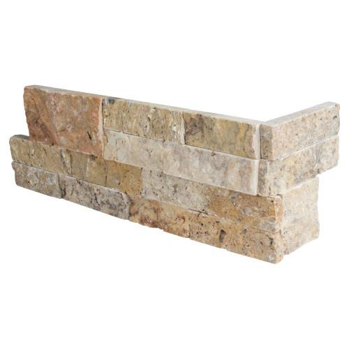 MS International Stacked Stone Series: Tuscany Scabas 6X12X6 Split Face Corner Ledger Panel LPNLTSCA618COR