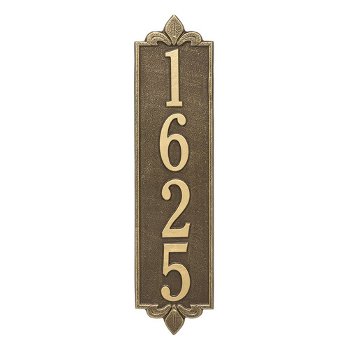 Whitehall Personalized Lyon Vertical Estate Wall Plaque