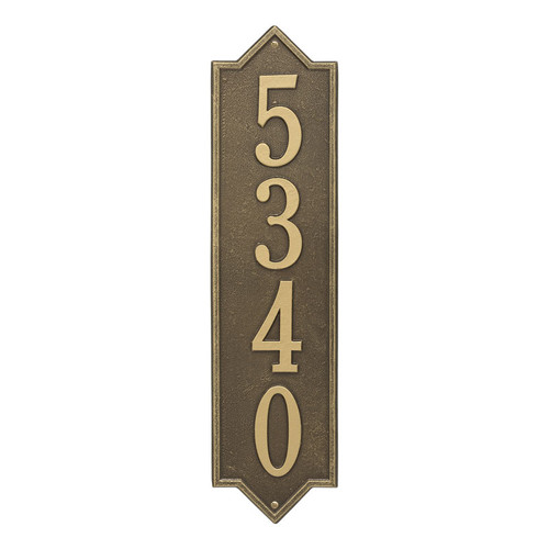 Whitehall Personalized Norfolk Vertical Estate Wall Plaque