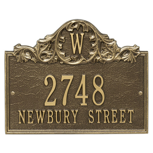 Whitehall Acanthus Monogram Personalized Plaque