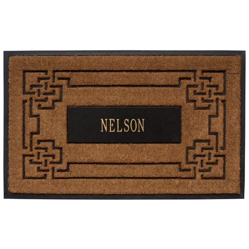 Whitehall Personalized Sailor's Knot Personalized Coir Mat