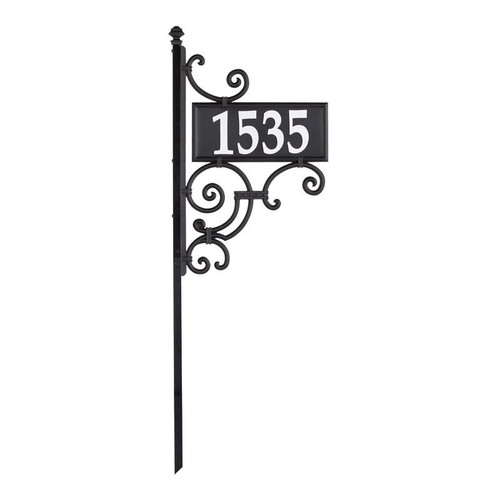 Whitehall Nite Bright Ironwork Reflective Address Post Sign