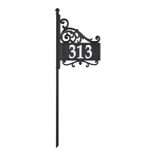 Whitehall Nite Bright Acanthus Reflective Address Post Sign