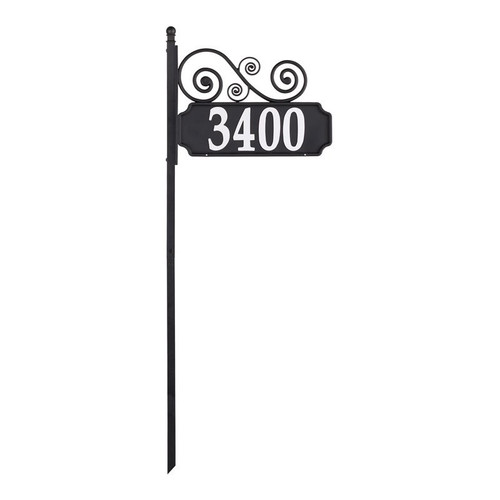 Whitehall Nite Bright Scroll Reflective Address Post Sign