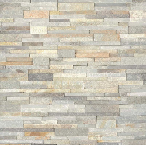MS International Stacked Stone Series: 6x24 Malibu Honey Splitface Panel: LPNLQMALHON624