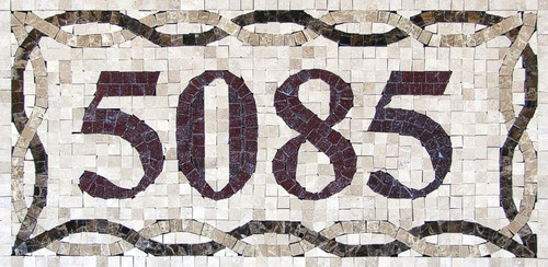 Mosaic House Numbers / Venice – H1 / Free Shipping