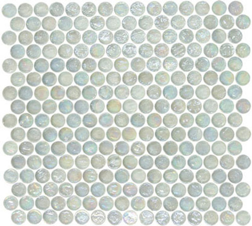 """Glass-Mosaic-backsplash-tile-kitchen-Wall-Bathroom.  Tile applications  Suitable for interior and exterior use, walls, countertops, backsplashes and pool borders.  Dimensions  Tile size: Approx. 3/4"""" diameter   Thickness: Approx. 1/4""""  Grout joint: Approx. 1/8""""  Sq. ft. per sheet: Approx. 1.0 Tile per sheet: 240 Mounting: Mesh-backed"""