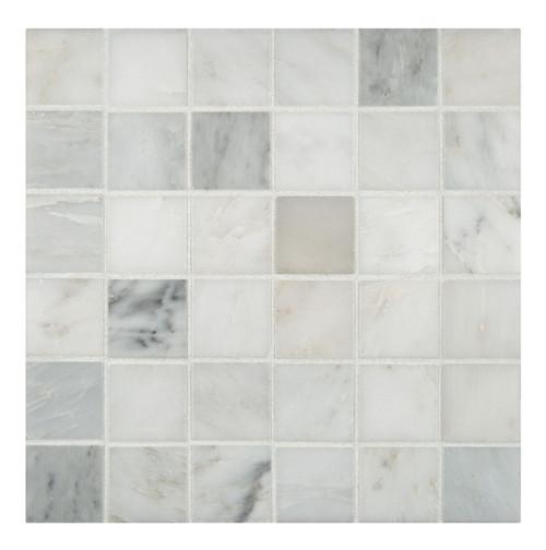 "MSI 2"" x 2"" Marble Honed Mosaic in Arabescato Carrara"