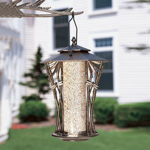 Whitehall Products French Bronze Dragonfly Silhouette Bird Feeder