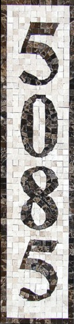 Mosaic House Numbers / Monaco – V1P / Free Shipping