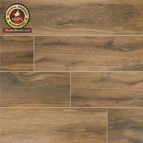 "MS International Ink Jet Wood Series: Botanica Cashew 6"" x 24"" Porcelain Tile NBOTCAS6X24"