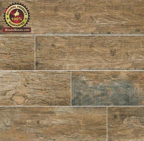 """MS International Ink Jet Wood Series: Redwood Natural 6"""" x 36"""" Porcelain Tile"""