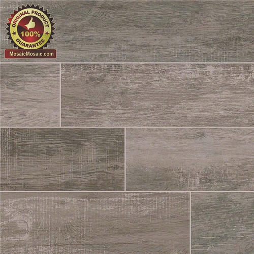 "Capella Ash 6"" x 40"" Wood Look Italian Made Porcelain Tile"