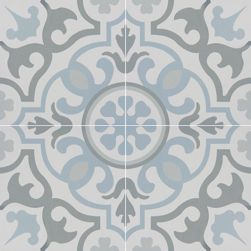 MS International Kenzzi Series: 8x8 Blume Glazed Porcelain Tile NHDBLU8X8