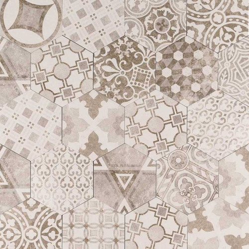 MS International Kenzzi Series: Mixana 7X8 Hexagon Matte Mosaic NMIX7X8HEX