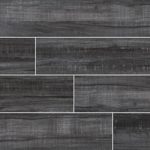 MS International Belmond Series: Obsidian 8X40 Black Matte Ceramic Tile NBELOBS8X40
