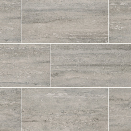 MS International  Veneto Series: Gray 12X24 Matte Porcelain Tile NVENEGRA1224