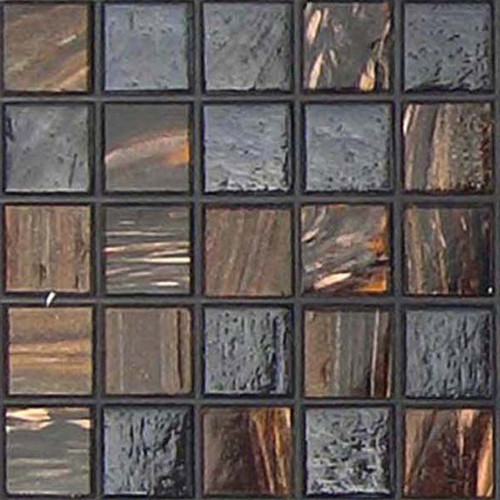 Aventurine Black Velvet Blend 0.75 x 0.75 Glass Mosaic Tile