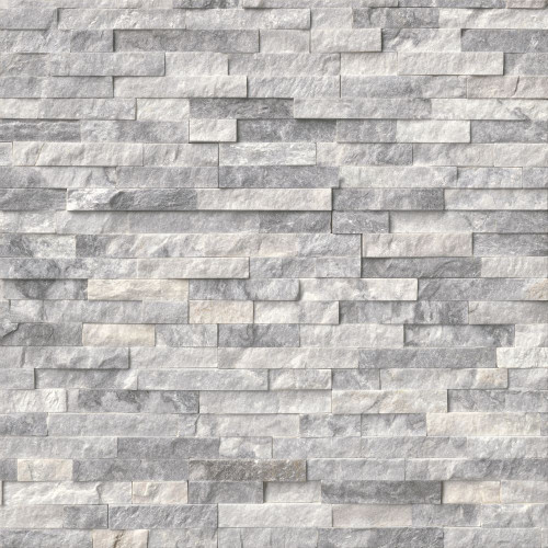 MS International Stacked Stone Series: Alaska Gray 6x24 Split Face Ledger Panel LPNLMALAGRY624