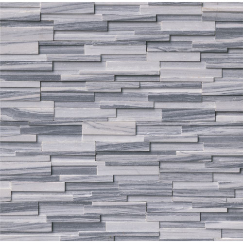MS International Stacked Stone Series: Alaska Gray 6x24 3D Honed Ledger Panel LPNLMALAGRY624-3DH