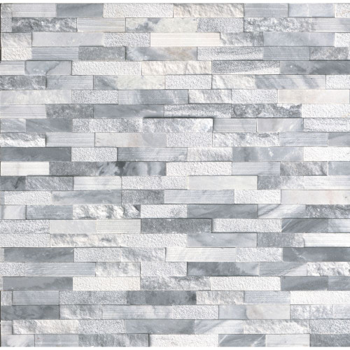 MS International Stacked Stone Series: Alaska Gray 6x24 Multi Finish Ledger Panel LPNLMALAGRY624-MULTI
