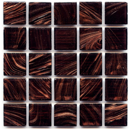 Aubergine 0.75 x 0.75 Glass Mosaic Tile