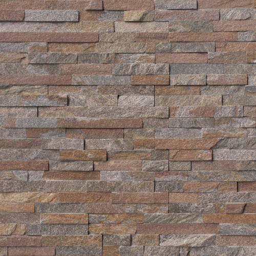 MS International Stacked Stone Series: Amber Falls 6x24 Split Face Ledger Panel LPNLQAMBFAL624