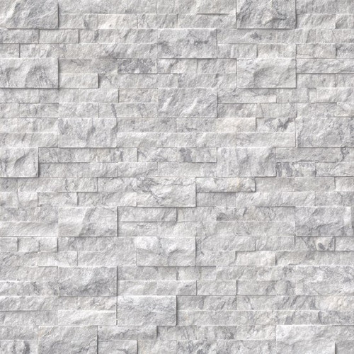MS International Stacked Stone Series: 6x24 Arabescato Carrara Splitface Panel LPNLMARACAR624