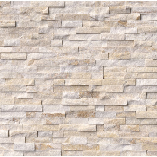 MS International Stacked Stone Series: Arctic Golden 6x24 Split Face Ledger Panel LPNLQARCGLD624