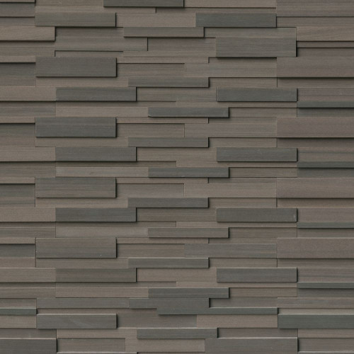 MS International Stacked Stone Series: Brown Wave 6x24 3D Honed Ledger Panel LPNLDBROWAV624-3DH