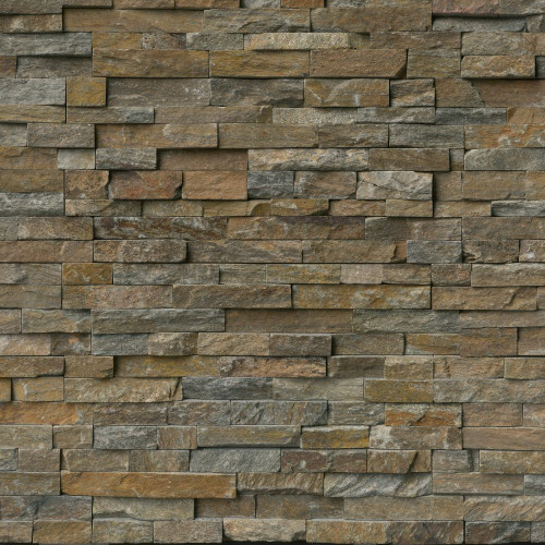 MS International Stacked Stone Series: Canyon Creek 6x24 Splitface Ledger Panel LPNLQCANCRE624