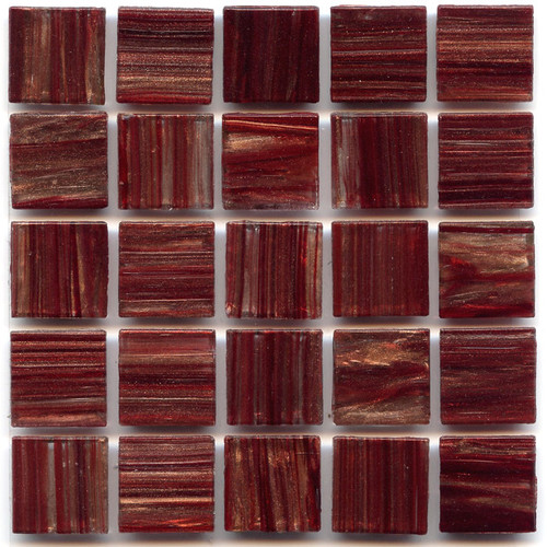 Bordeaux 0.75 x 0.75 Glass Mosaic Tile