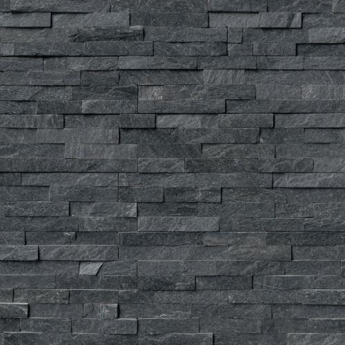 MS International Stacked Stone Series: Coal Canyon 6x24 Split Face Ledger Panel LPNLQCOACAN624