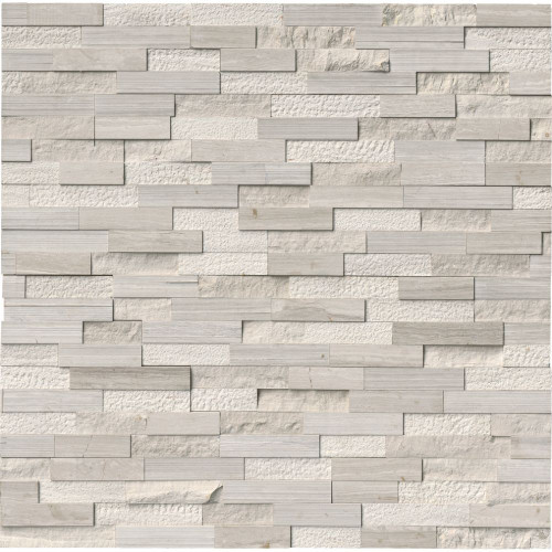 MS International Stacked Stone Series: White Oak 6x24 Multi Split Face Ledger Panel LPNLMWHIOAK624-MULTI
