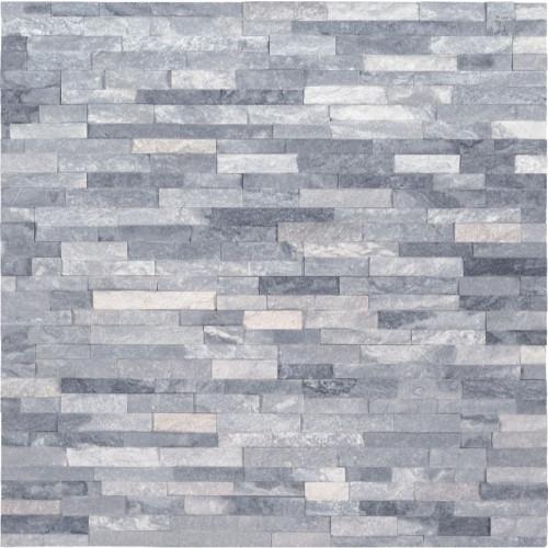 MS International Stacked Stone M Series:  Alaska Gray 4.5x16 Split Face Mini Ledger Panel LPNLMALAGRY4.516-MINI