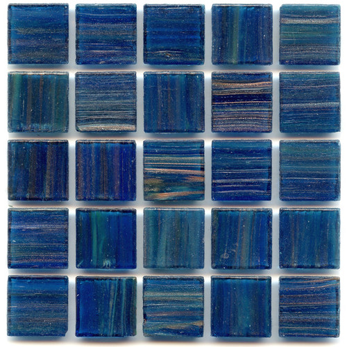 Blue Agate 0.75 x 0.75 Glass Mosaic Tile