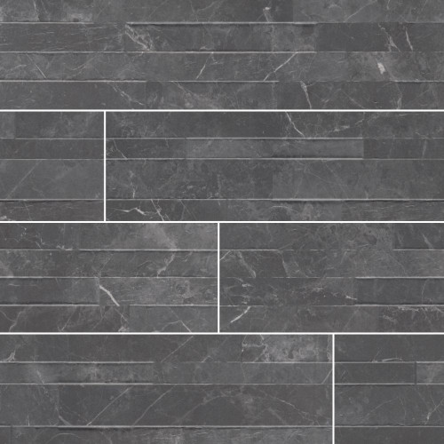 MS International Stacked Stone Series: Midnight Mount 6X24 Matte Porcelain Ledger Panel NMIDMOU6X24