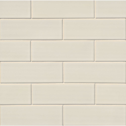 MS International Backsplash Series: Antique White 4x12 Handcrafted Glossy Subway Tile SMOT-PT-AW412