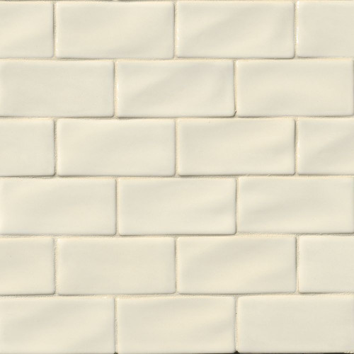 MS International Backsplash Series: Antique White 3x6 Handcrafted Glossy Subway Tile MOT-PT-AW36