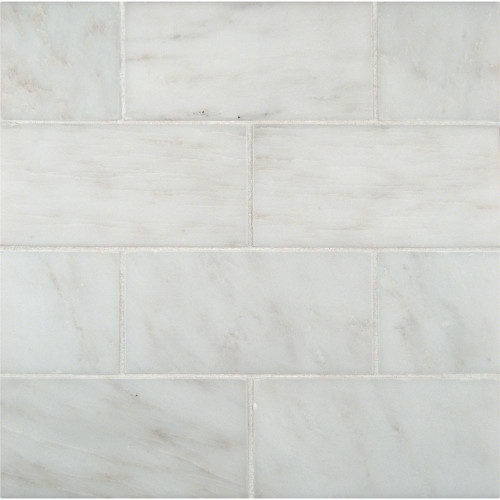 MS International Backsplash Series: Arabescato Carrara 3X6 Honed Subway Tile TARACAR36H
